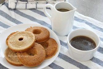 Pancake Batter Donuts with Homemade Brown Sugar Syrup
