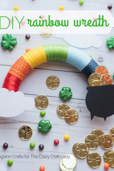 St. Patrick's Day Crafting: Quick and Easy Rainbow Wreath