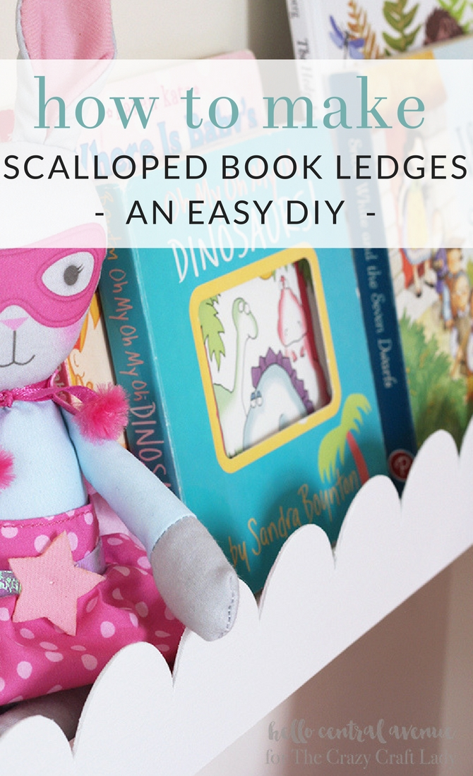 Add some scalloped trim to your boring book ledges to give them a fresh new upgrade! The scalloped book ledges will give your space a fun and whimsical feeling!