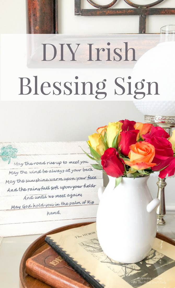 diy irish blessing sign