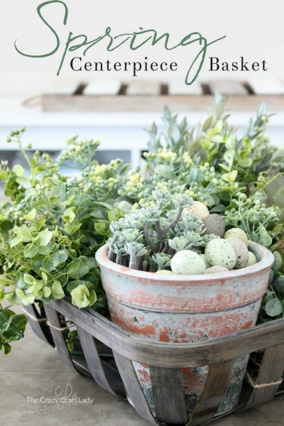Fresh Styling with Tobacco Baskets: a Green Spring Centerpiece