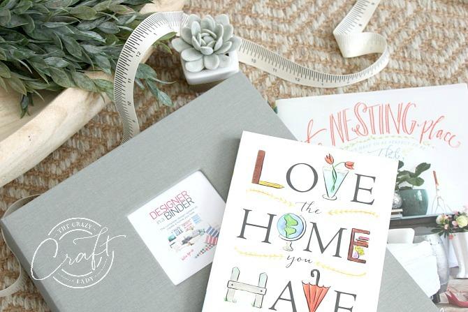design a home you love - Designer in a Binder