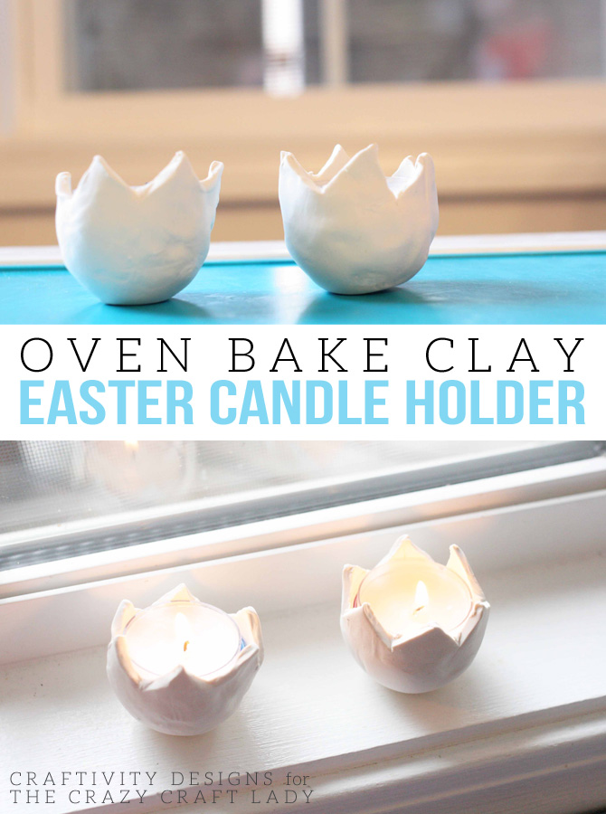 Learn how to make oven baked clay eggs for Easter. These charming DIY Easter Candle Holders are so simple to make, even the kids can get it on the fun!