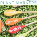 These wooden spoon plant markers are painted and the sealed with Mod Podge, making them perfect for spring herbs or your summer vegetable garden. Make your own DIY garden markers.