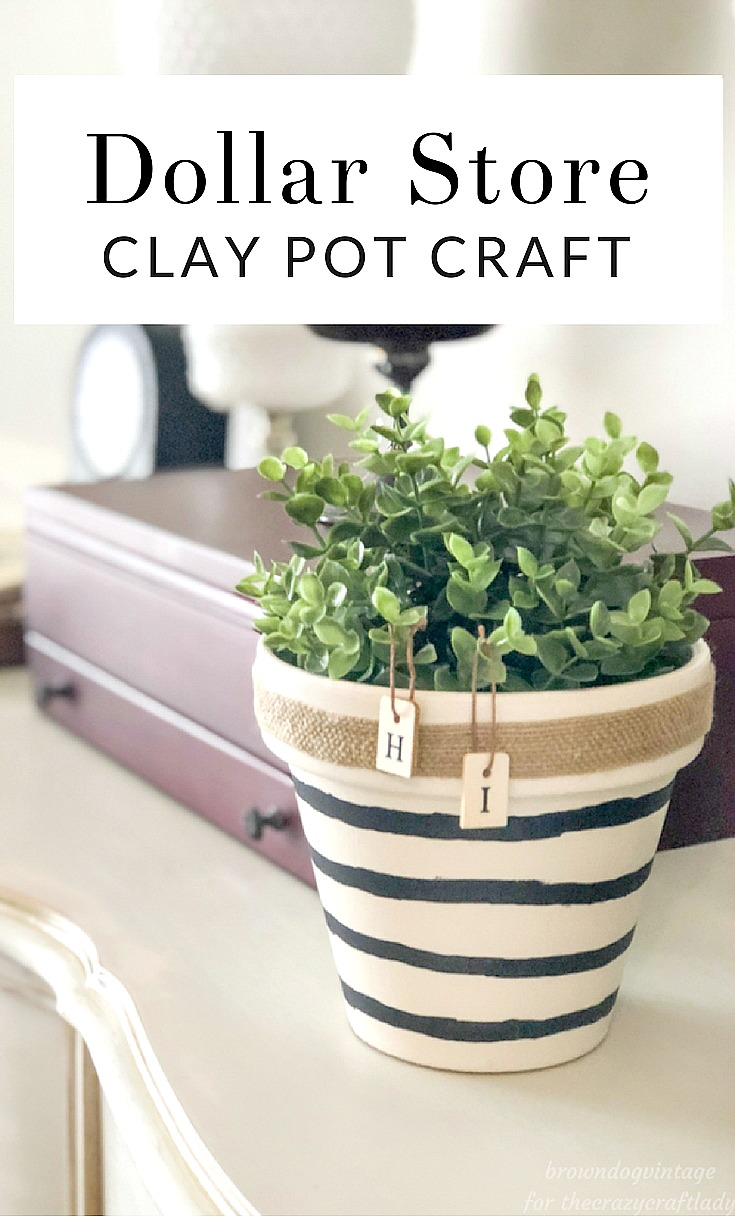 Grab a clay pot from the dollar store and give it a complete makeover with this easy tutorial. How to make a simple, neutral dollar store planter.
