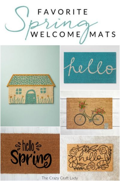 Spring Welcome Mats – Welcome Warmer Weather with these Colorful Doormats