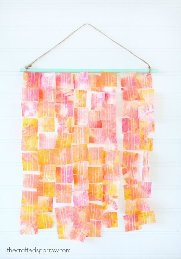 Wax Paper Crayon Art - creative uses for old crayons