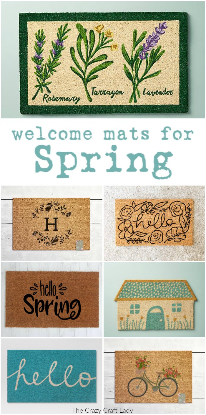 Shop my favorite spring welcome mats – these colorful buys are the easiest way to change up your home decor for spring. Welcome visitors to your home with a cheery spring outdoor doormat.
