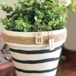 diy dollar store planter makeover paint