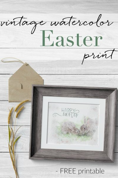 Beautiful, Free Vintage Easter Watercolor Art Print!