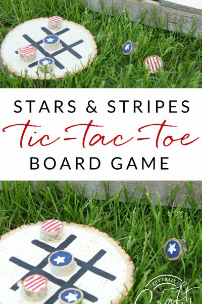DIY Tic Tac Toe Board – A Red, White, and Blue Summer Game