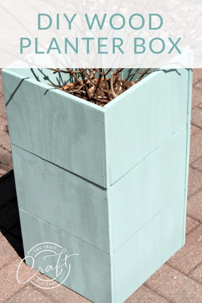 DIY an Inexpensive Tall Planter Box from ONE plywood sheet
