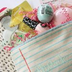 """If you are looking for a way to thank your children's teachers for their service this past school year, try making these easy and inexpensive personalized summer break teacher gifts! These adorable little monogramed """"relaxation pouches"""" will give the teachers what they need to enjoy a peaceful and restful summer!"""