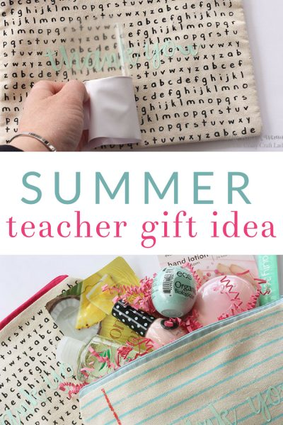 "Summer Break Teacher Gift- Personalized ""Relaxation Pouches"""
