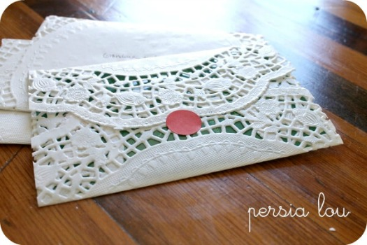 make a diy paper doily envelope