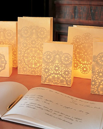 doily paper luminaries