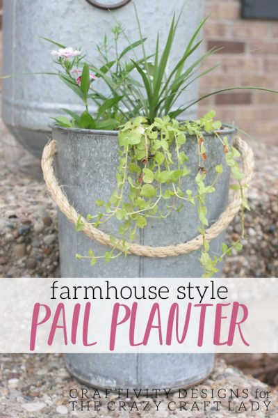 How to Make a DIY Pail Planter for the Front Porch