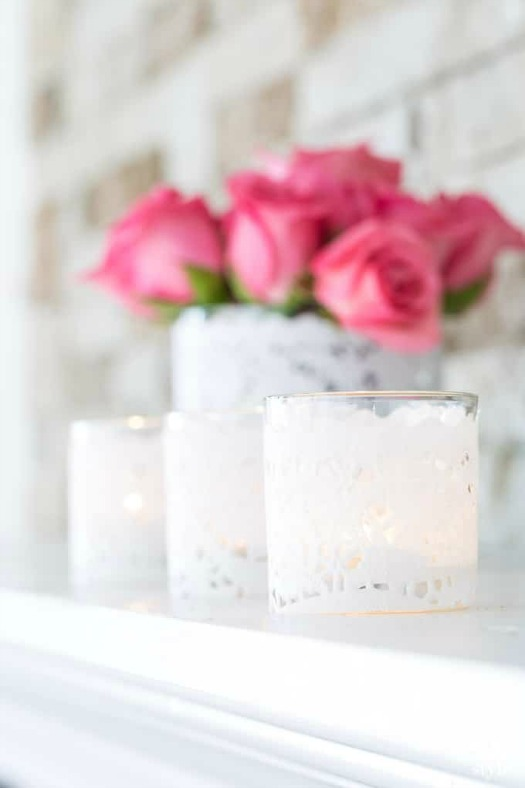 paper doily votive candle holder