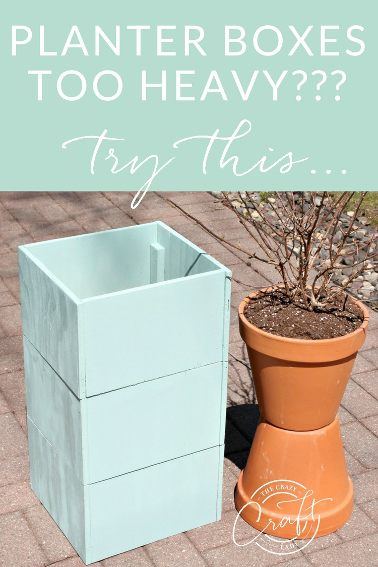 Heavy Planter Box? Lighten it up with this cimple hack