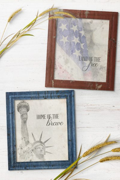 Farmhouse Style, Patriotic 4th of July Printables!