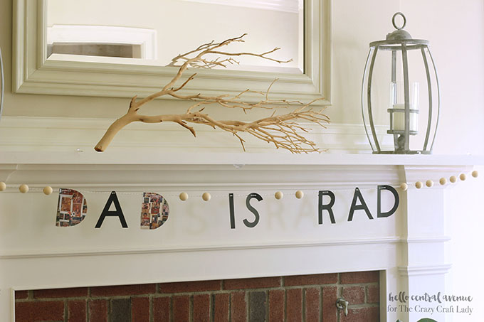 """Dad is Rad"" personalized photo banner"