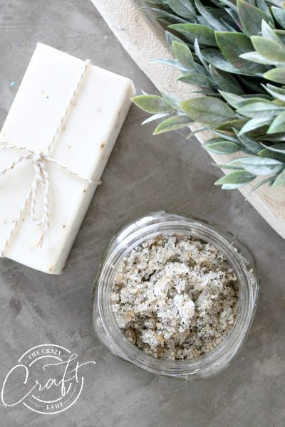 Homemade Herbal Tea Sugar Scrub