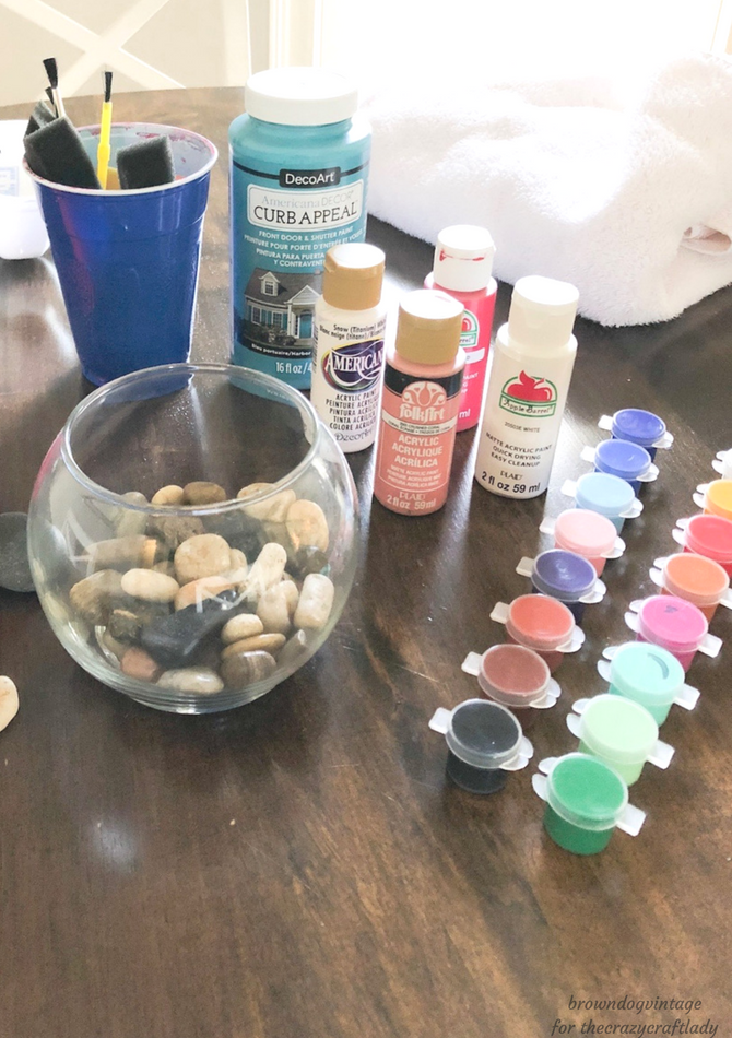 Supplies for Painting Rocks