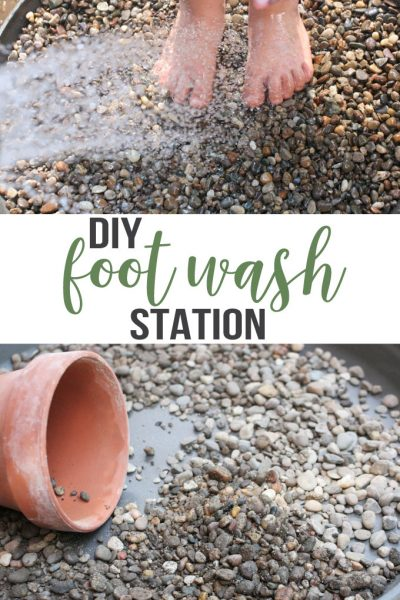 How to Make a DIY Foot Wash Station