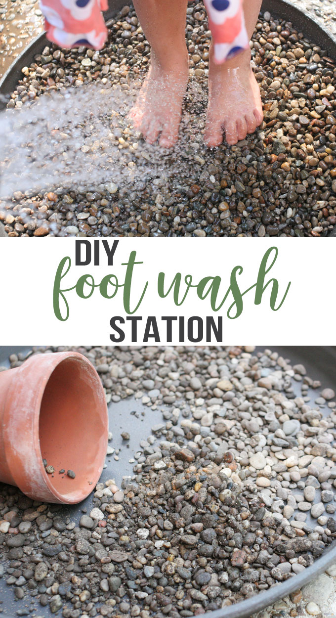 Learn how to make a foot wash station for messy summer days. In 15 minutes, you can make an attractive -- and affordable -- DIY Foot Wash Station for the backyard.