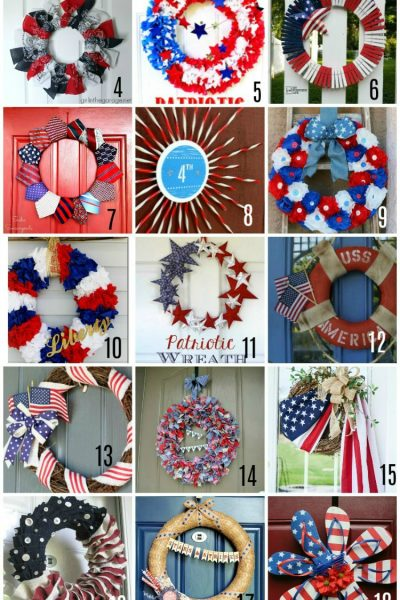 21 DIY Patriotic Wreaths to make this Summer