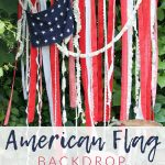 Make this DIY American flag backdrop - perfect for decorating your 4th of July party or staging patriotic themed photos.