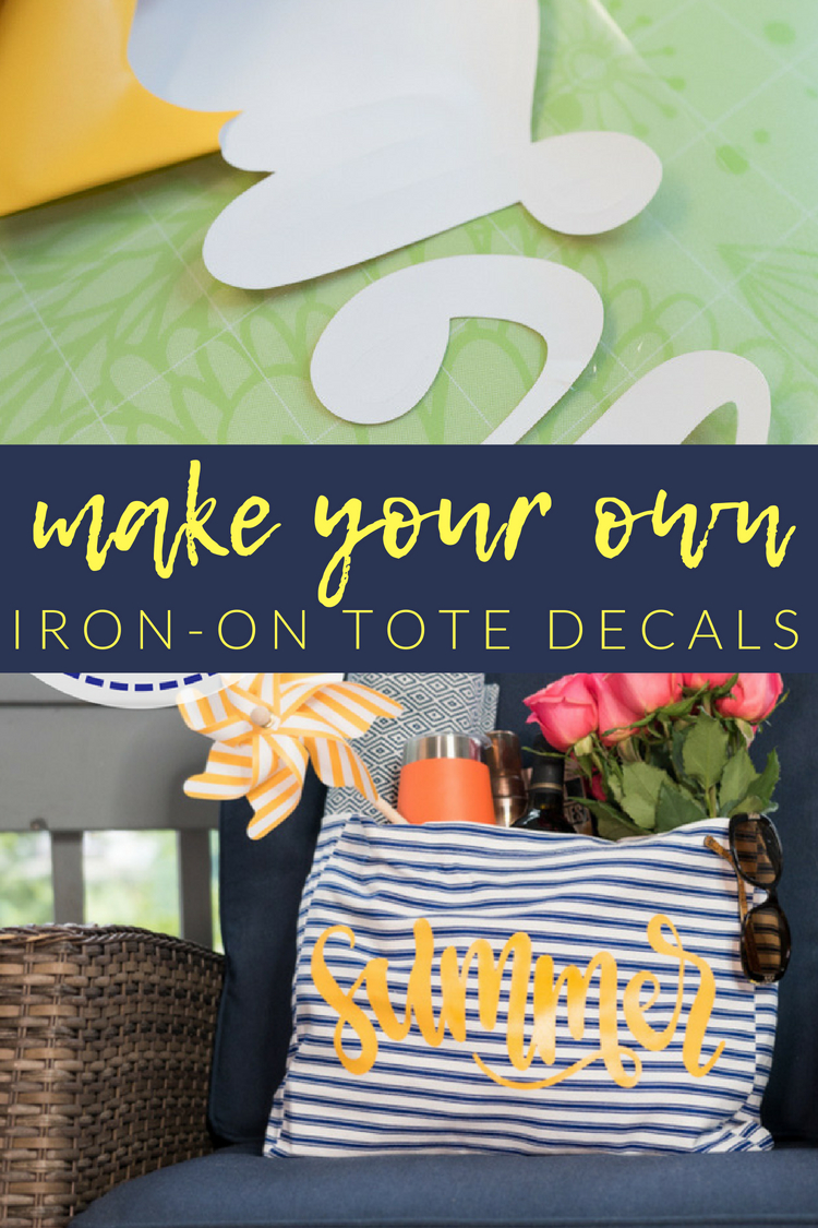 """Summer is here - and as much as we love it we also know it means toting lots of """"stuff"""" for the kiddos! We still should look cute doing it, so today we're going to learn how to make an easy DIY Summer Tote Bag in just a few minutes!"""