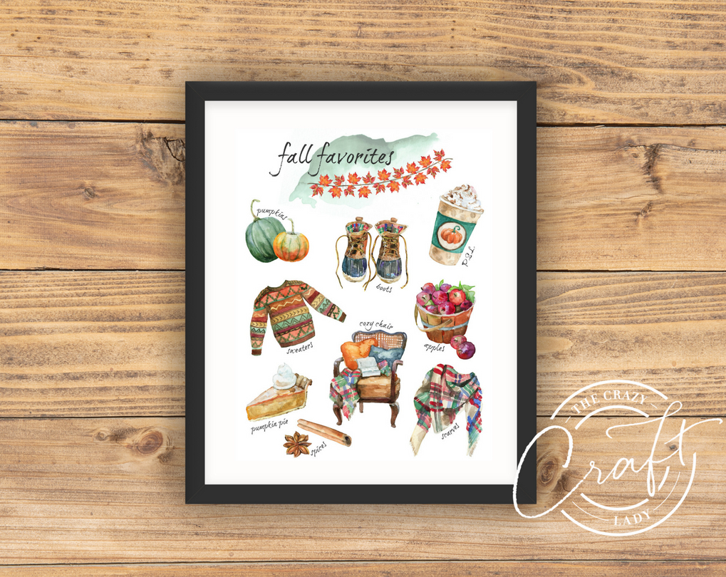 Fall Favorites Watercolor Print
