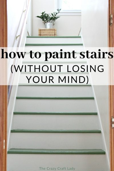 Magnolia Green Painted Stairs – A DIY Staircase Makeover