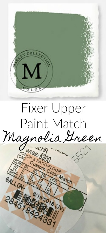 Magnolia Green Paint Color Match