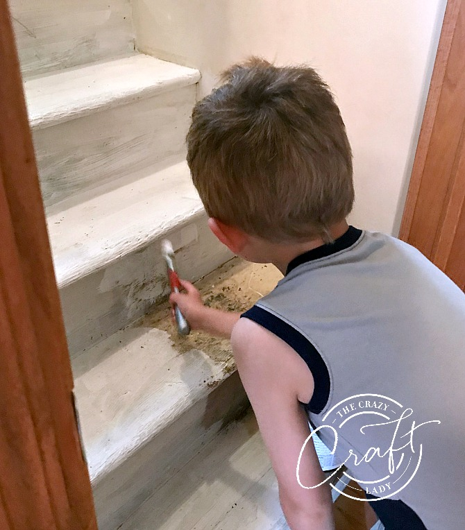 Prime and Paint Wooden Stairs