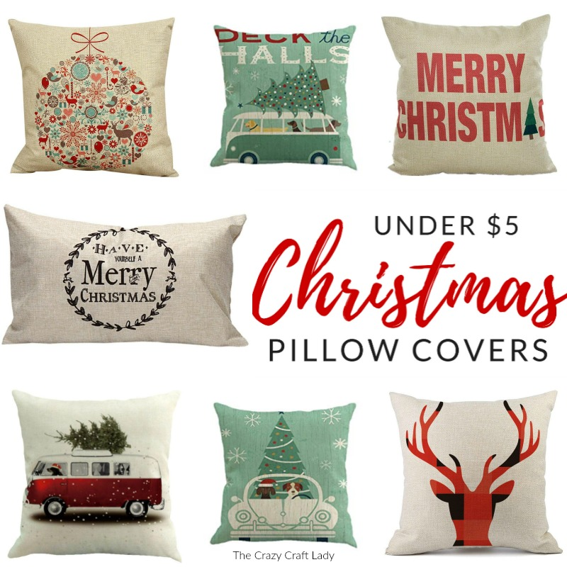 shop farmhouse style christmas pillow covers these budget friendly buys are perfect for changing - Christmas Decorative Pillow Covers