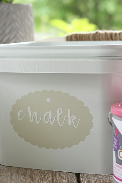 Upcycled Outdoor Storage Containers