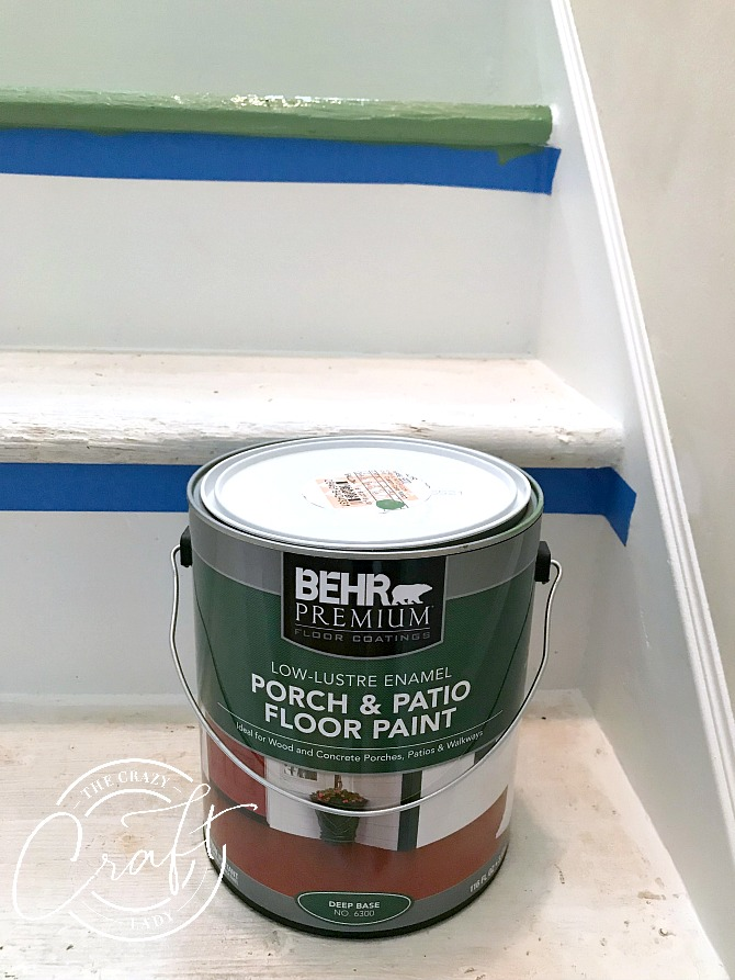 Using porch and patio paint on stairs