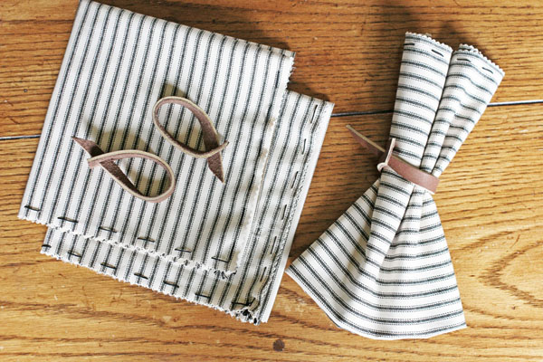 DIY Napking Rings from Leather