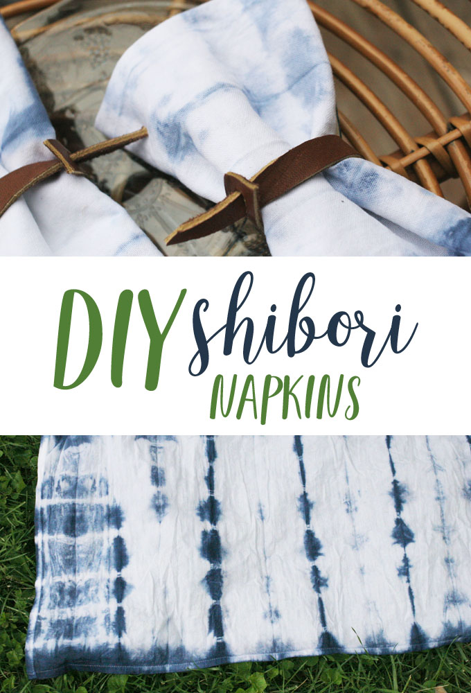 How To Make DIY Shibori Napkins - The Crazy Craft Lady