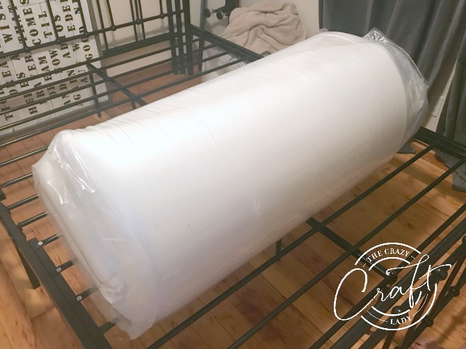 rolled up foam mattress - buying and assembling a mattress off the internet