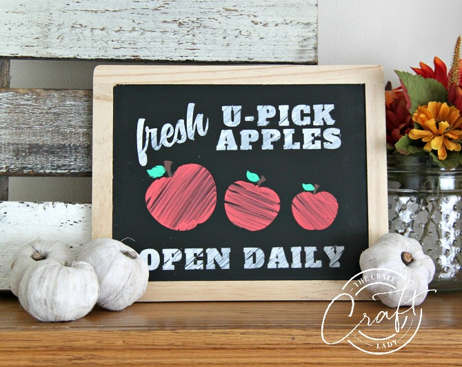 Fall Chalkboard Art with a FREE Apple Orchard Stencil file