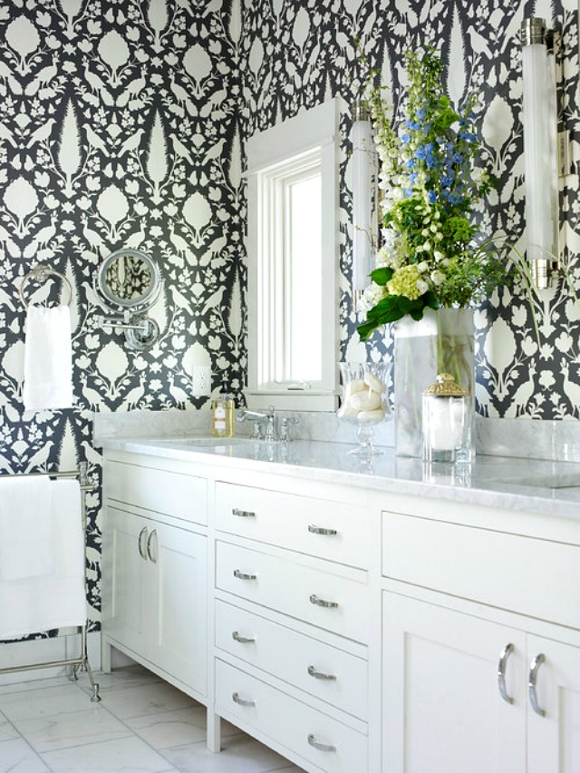 Bathroom Wallpaper Ideas: glamorous bathroom design