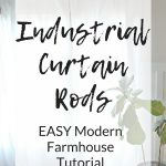 Follow this simple tutorial to make DIY industrial pipe curtain rods that easily be customized to fit any size of window in your home.