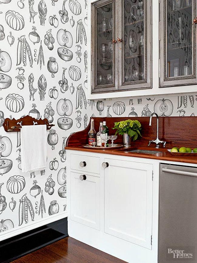 Kitchen Wallpaper Ideas - produce wallpaper