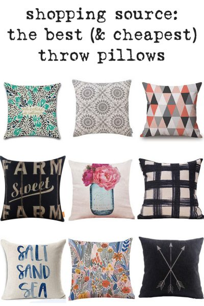 """Shop my """"Secret Source"""" for Insanely Inexpensive 18x18 Pillow Covers. Where to find the BEST throw pillow covers without breaking the bank."""