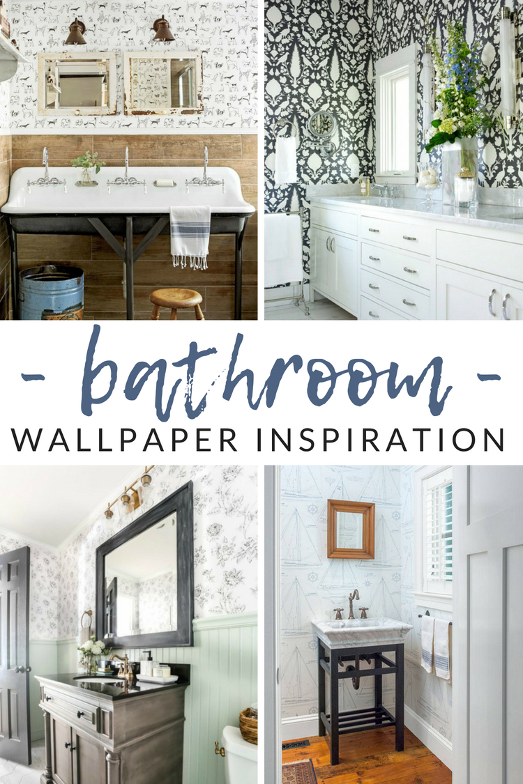 Surprising Wow Worthy Bathroom Wallpaper Ideas The Crazy Craft Lady Interior Design Ideas Oteneahmetsinanyavuzinfo