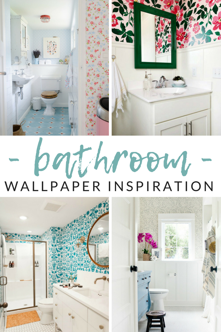 Tremendous Wow Worthy Bathroom Wallpaper Ideas The Crazy Craft Lady Interior Design Ideas Oteneahmetsinanyavuzinfo