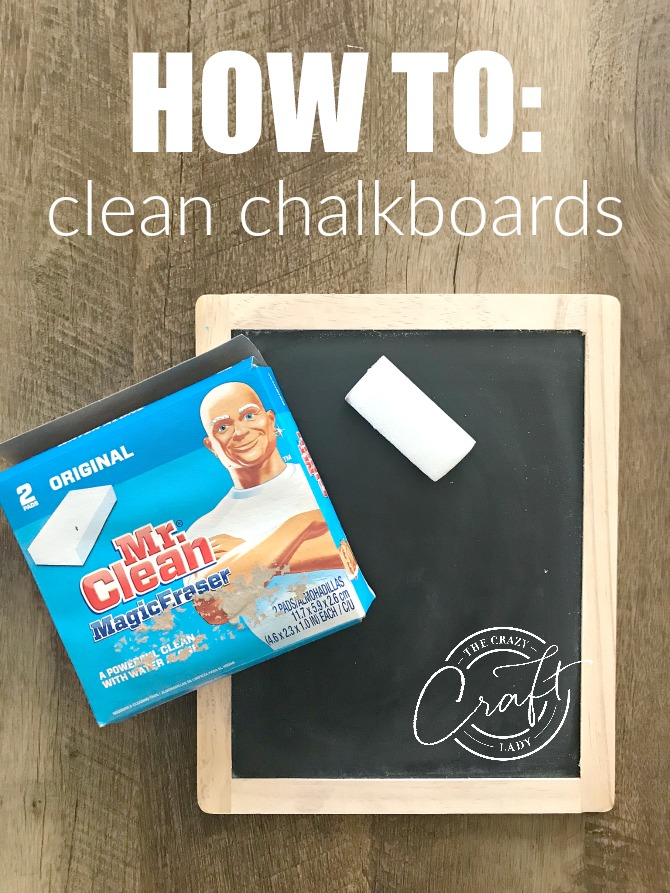 I love decorating and changing seasonal decor with chalkboards, but until recently how to remove liquid chalk evaded me. Here's my go-to method for erasing chalk markers so I can have a clean chalkboard surface for my next craft project.